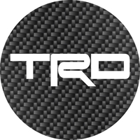 Toyota TRD Circular Decal / Sticker Carbon Fiber Look 13