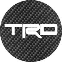Toyota TRD Circular Decal / Sticker Carbon Fiber Look 13