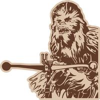 Chewbacca Decal / Sticker 02