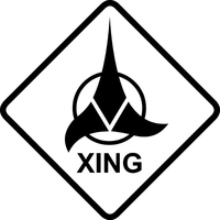 Klingon XING Decal / Sticker 03