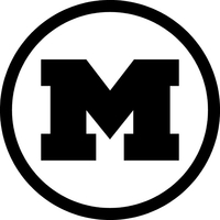 Circular M Decal / Sticker 02