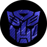Dark Blue Carbon Plate Autobot Transformers Decal / Sticker 32