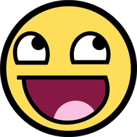 Awesome Happy Face Decal / Sticker 08