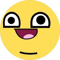 Derp Happy Face Decal / Sticker 10