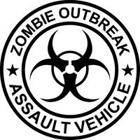' Zombie Outbreak Assault Vehicle Decal / Sticker 07