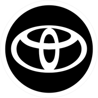 Circular Toyota Decal / Sticker White and Black 12