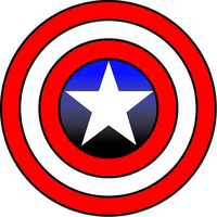 Captain America Shield Decal / Sticker 03