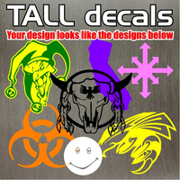 Custom Decal / Sticker Quote B - Tall Designs