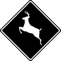 Deer Crossing Decal / Sticker 02