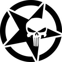 Punisher Star Decal / Sticker 114