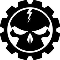 Gear Skull Decal / Sticker 33