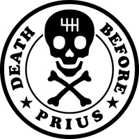 Death Before Prius Decal / Sticker 02