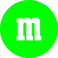 Green M&M Decal / Sticker 30