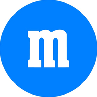 Blue M&M Decal / Sticker 31