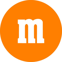 Orange M&M Decal / Sticker 33