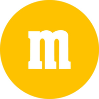Yellow M&M Decal / Sticker 34