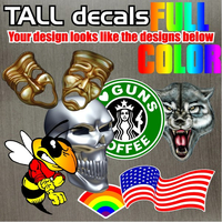 Full Color Print Decal Quote E - Tall Design