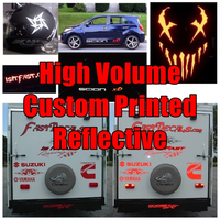 Custom Shape Printed on White Reflective Decal / Sticker Material Quote