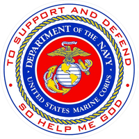 Department of the Navy USMC Decal / Sticker 02