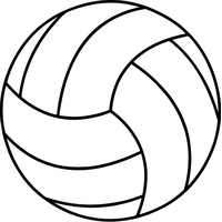 Volleyball Decal / Sticker 01