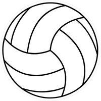 Volleyball Decal / Sticker 02