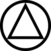 Alcoholics Anonymous Triangle Decal / Sticker 01