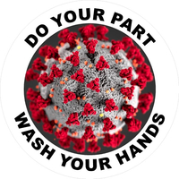 Do Your Part Wash Your Hands Coronavirus (COV-19) Decal / Sticker 05