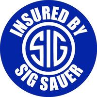 Insured By Sig Sauer Decal / Sticker 10