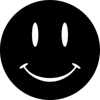 Smiley Face Decal / Sticker 04