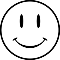 Smiley Face Decal / Sticker 05
