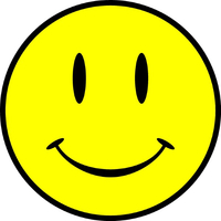 Smiley Face Decal / Sticker 06