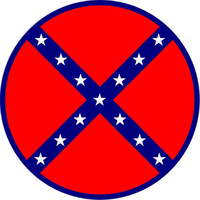 Circular Confederate Flag Decal / Sticker 76