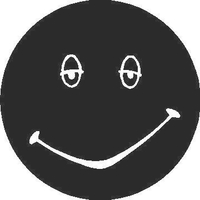 Happy Face Decal / Sticker 01
