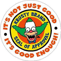Krusty Brand Seal of Approval Decal / Sticker