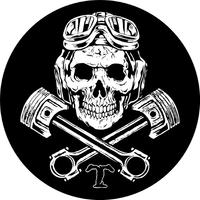 Triumph Piston Skull Decal / Sticker 74