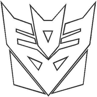 Transformers Decepticon Outline Decal / Sticker