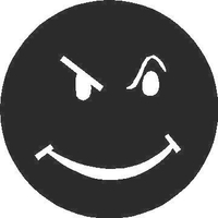 Smiley Face Decal / Sticker 02