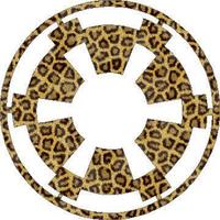 Star Wars Imperial logo in Leopard Print Decal / Sticker