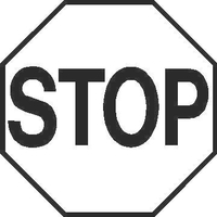 Stop Sign Decal / Sticker 02