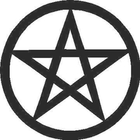 Pentagram Decal / Sticker 03