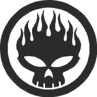 Flaming Skull Decal / Sticker 05