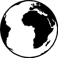 Globe Decal / Sticker 01