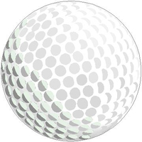 Golf Ball Decal / Sticker 02