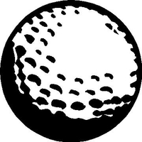 Golfball Decal / Sticker 03