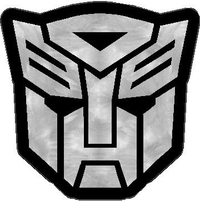 Sanded Aluminum Autobot 11 Decal / Sticker 02