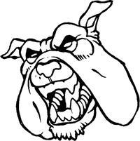 Bulldog Mascot Decal / Sticker