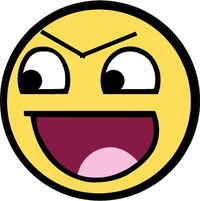 Evil Awesome Happy Face Decal / Sticker 13