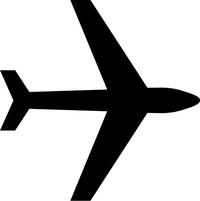 Airplane Decal / Sticker 07