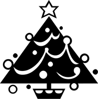Christmas Tree Decal / Sticker 03