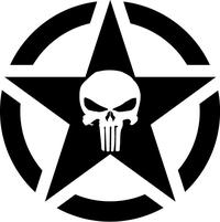 Punisher Star Decal / Sticker 116